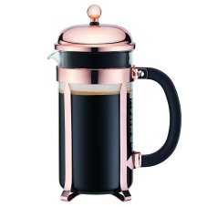 Bodum CHAMBORD Coffee Maker, French Press Coffee Maker, Copper Classic Collection, Glass, 34 Ounce (8 Cup) https://www.amazon.com/Bodum-CHAMBORD-Coffee-Classic-Collection/dp/B00Z6DRFTA/ref=sr_1_32?s=kitchen&ie=UTF8&qid=1505568521&sr=1-32&keywords=french+press
